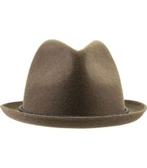 hat fedora in lapin with precious band