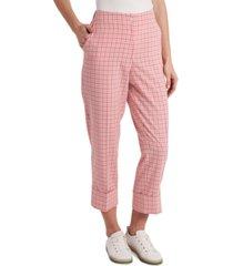 riley & rae isla plaid cuffed pants, created for macy's