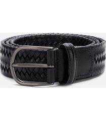 anderson's men's matt buckle woven belt - black - w34/l