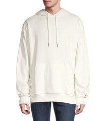 hedge men's cotton knit hoodie - marshmallow - size m