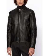 boss men's muba regular-fit leather jacket