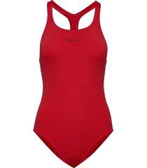 essential endurance+ medalist baddräkt badkläder röd speedo