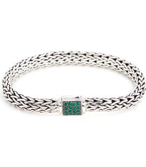 'classic chain' sapphire emerald silver reversible bracelet