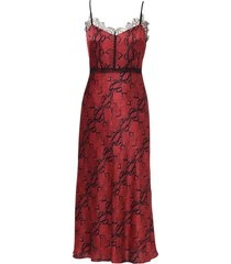 jason wu bordeaux silk spaghetti strap dress - red