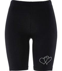 pantaloncini con applicazione (nero) - bpc selection