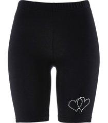 pantaloncini da ciclista con applicazione (nero) - bpc selection