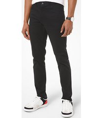 mk pantalone slim-fit parker in twill stretch - nero (nero) - michael kors