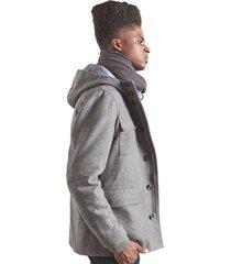 jaquetas & casacos khelf casaco masculino lá cinza