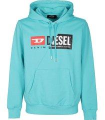 diesel light blue cotton sweatshirt