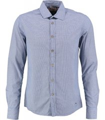 petrol blauw slim fit overhemd