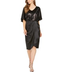 28th & park sequined draped blouson dress, created for macy's