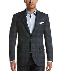 joseph abboud limited edition navy plaid modern fit sport coat