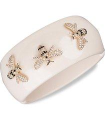 14k goldplated & crystal bangle bracelet