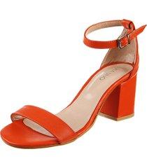 sandalia naranja via uno