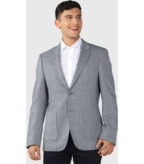 blazer van heusen gris - calce regular