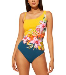 bleu by rod beattie beachy keen one shoulder one-piece swimsuit women's swimsuit