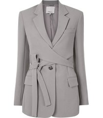 3.1 phillip lim single-breasted wrap blazer - grey
