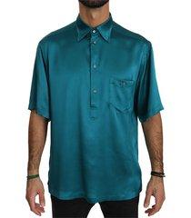 shirt met korte mouwen 100% zijde top shirt