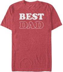 fifth sun men's best dad short sleeve crew t-shirt