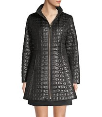 quilted bow a-line jacket