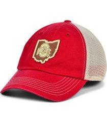 top of the world men's ohio state buckeyes hidst trucker cap