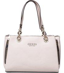 g chain girlfriend satchel bags top handle bags crème guess