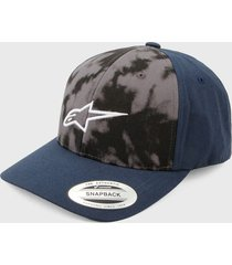 gorra azul-gris alpinestars smoke hat