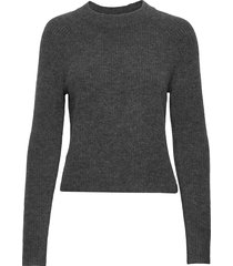 aire cropped sweater gebreide trui grijs banana republic
