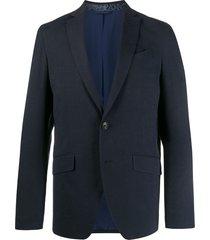etro silk suit jacket - blue