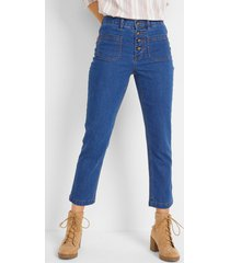 7/8 high-waist stretch jeans