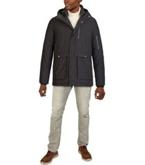 men's textured poly hooded parka