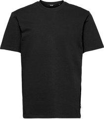onsanel life reg ss tee t-shirts short-sleeved svart only & sons