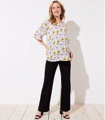 loft maternity trousers in doubleweave