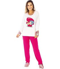 pijama de inverno tradicional victory feminino