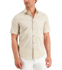 alfani men's geo print shirt, created for macy's