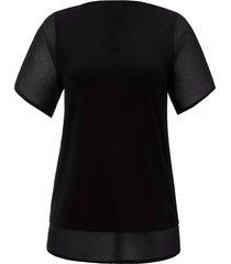 shirt met v-hals van emilia lay zwart