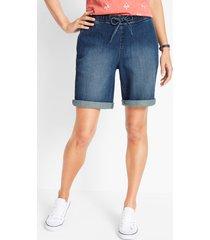 comfort stretch jeans short met comfortband in bermudalengte