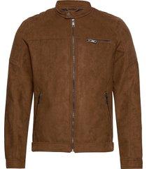 jjerocky jacket noos läderjacka skinnjacka brun jack & j s