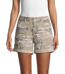 sanctuary women's rolled-cuff cargo shorts - shoreline - size s