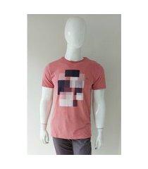 camiseta aramis textura quadriculada rose tam. m