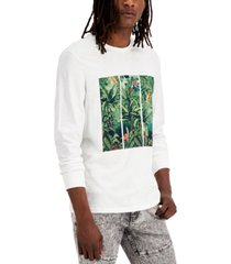 inc international concepts men's jungle tryptic graphic long-sleeve t-shirt, created for macy's