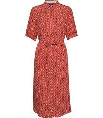 dress short sleeve jurk knielengte rood noa noa