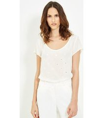 blusa seda espelhos off white