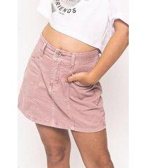 falda julia cortes rosa cacao