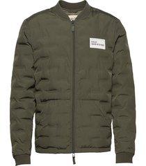 halo quilted jacket doorgestikte jas groen halo