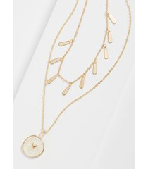 maurices womens gold heart double row drape necklace
