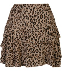 r13 leopard-print a-line skirt - brown