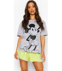 disney mickey pyjama set met shorts, lime