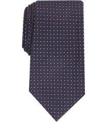 tasso elba men's grid silk tie, created for macy's