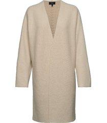 whipstich coat.felte stickad tröja cardigan beige theory